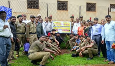 Tree Planataion In College Campus By NSS & NCC Dept 3-07-2018