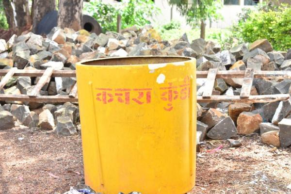 Dustbin and Soak Pit for solid waste