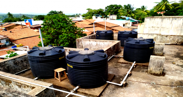 Water Storage Tanks at Ladies Hostel