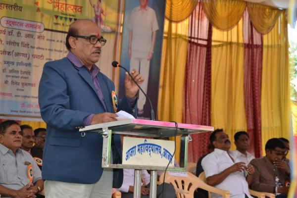 Dr. D. R. More - delivering speech on the inaugaral function of District Level Youth Festiva